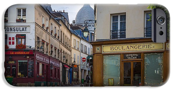 Streetlight Photographs iPhone Cases - Butte de Montmartre iPhone Case by Inge Johnsson