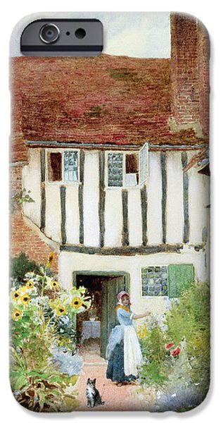 Charming Cottage iPhone Cases - Butterflies iPhone Case by Arthur Claude Strachan
