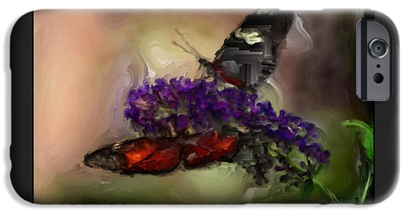 Big Blue Marble iPhone Cases - Butterflies at the Park iPhone Case by Kelly Gibson