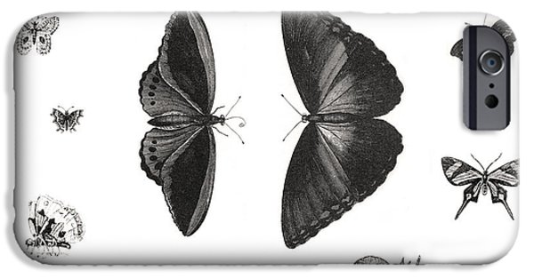 Night Light iPhone Cases - Butterflies iPhone Case by Gina Dsgn