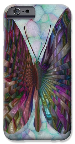Merging iPhone Cases - Butterfly 3 iPhone Case by Jack Zulli
