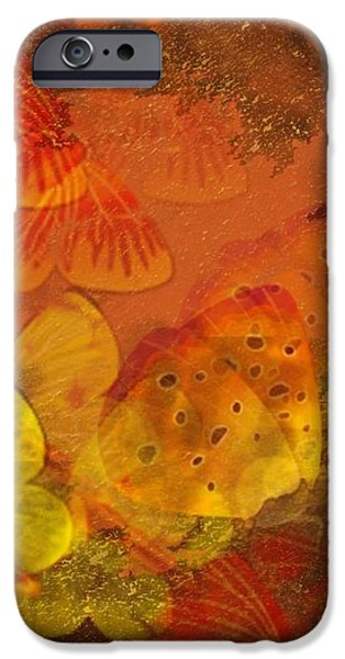 Butterfly Abstract 2 iPhone Case by David Dehner