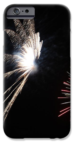 Butterfly and Flower Fireworks iPhone Case by Howard Tenke