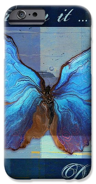 Hotel-room iPhone Cases - Butterfly Art - Dream It Do It - 99at3a iPhone Case by Variance Collections