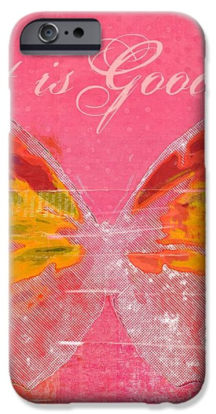 Butterfly Art - p11aig13a_ Art is Good iPhone Case by Variance Collections