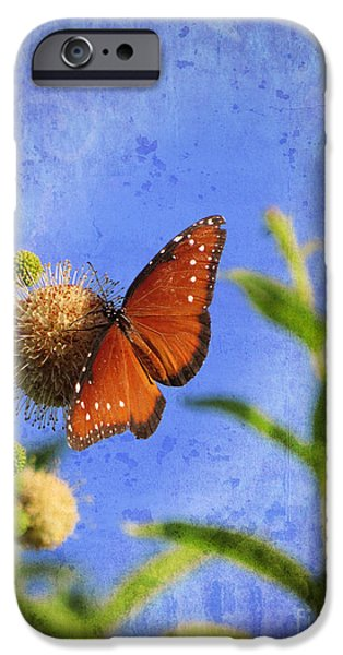 Surrealism Digital iPhone Cases - Butterfly - Bow to the Queen iPhone Case by Ella Kaye Dickey