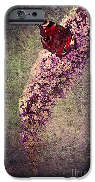Close Up Floral Mixed Media iPhone Cases - Butterfly Bush iPhone Case by Svetlana Sewell