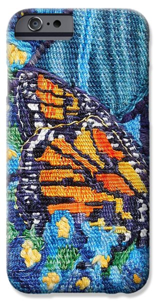 Mountain Tapestries - Textiles iPhone Cases - Butterfly Close Up iPhone Case by Annelle Woggon