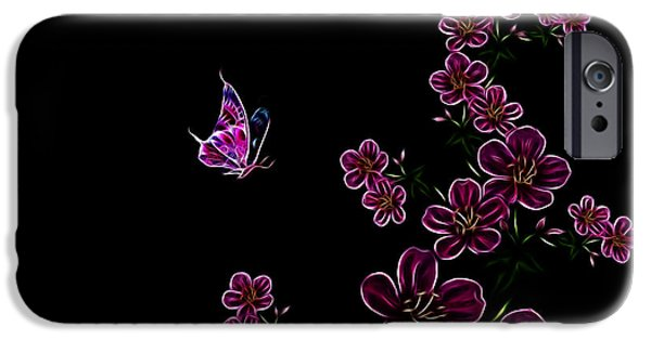 Fractal Photographs iPhone Cases - Butterfly Dancer 1 iPhone Case by Cheryl Young