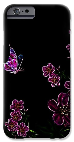 Butterfly Dancer 1 iPhone Case by Cheryl Young