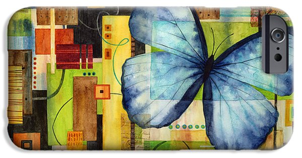 Biology Paintings iPhone Cases - Butterfly Effect iPhone Case by Hailey E Herrera