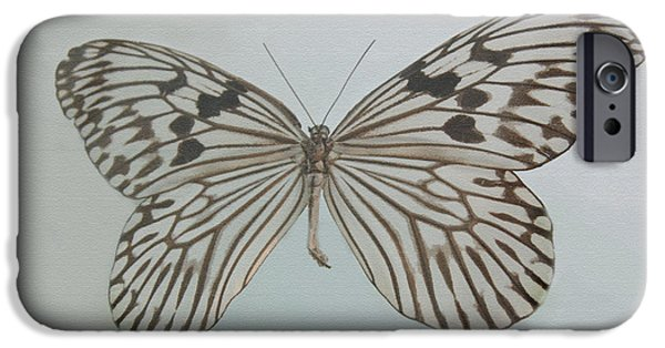 Night Light iPhone Cases - Butterfly iPhone Case by Gina Dsgn