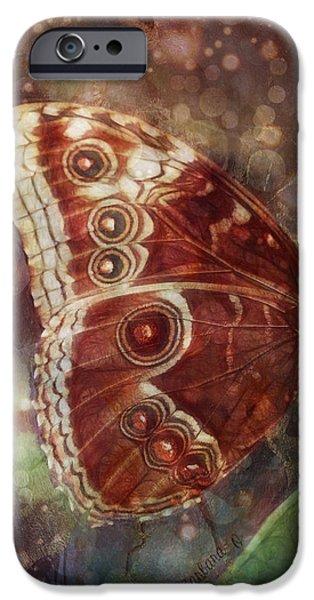 Butterfly in my garden iPhone Case by Barbara Orenya