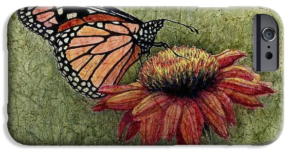 Janet King iPhone Cases - Butterfly in my garden iPhone Case by Janet King