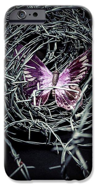 Creepy iPhone Cases - Butterfly iPhone Case by Joana Kruse