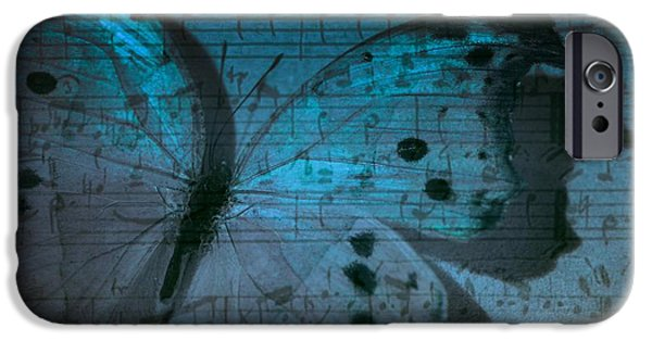 Artography Photographs iPhone Cases - Butterfly Midnight Symphony iPhone Case by Marianna Mills