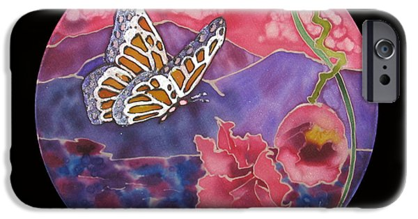 Morning Tapestries - Textiles iPhone Cases - Butterfly Morning iPhone Case by Annelle Woggon