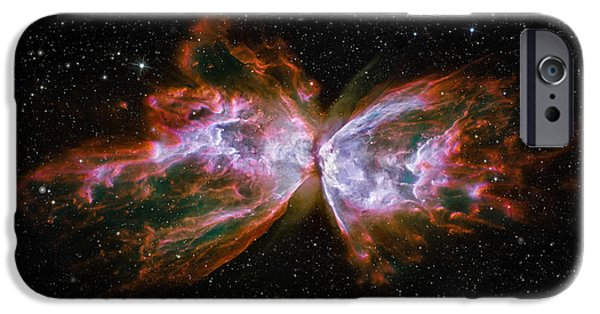 Clouds iPhone Cases - Butterfly Nebula NGC6302 iPhone Case by Adam Romanowicz