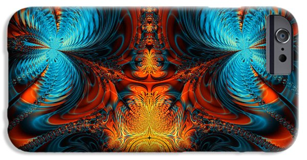 Abstract Digital iPhone Cases - Butterfly Plasma  iPhone Case by Ian Mitchell