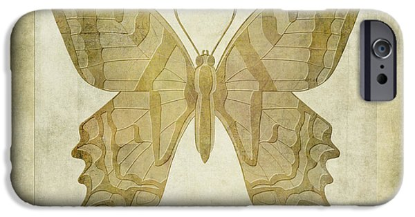 Fauna Digital Art iPhone Cases - Butterfly Textures iPhone Case by John Edwards