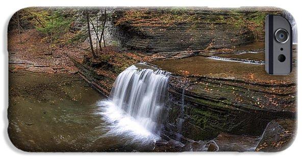 Buttermilk Falls iPhone Cases - Buttermilk Creek Falls iPhone Case by Mark Papke