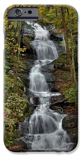 Buttermilk Falls In Autumn iPhone Case by Stephen  Vecchiotti