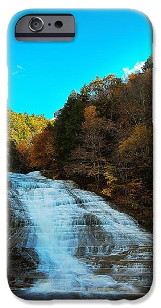 Buttermilk Falls iPhone Cases - Buttermilk Falls Ithaca New York iPhone Case by Paul Ge