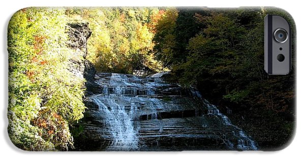 Buttermilk Falls iPhone Cases - Buttermilk Falls Ithaca New York iPhone Case by Rose Santuci-Sofranko