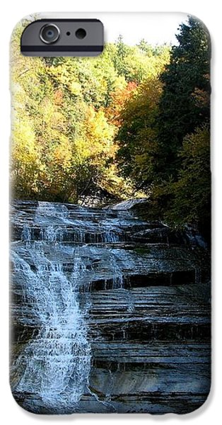Buttermilk Falls Ithaca New York iPhone Case by Rose Santuci-Sofranko