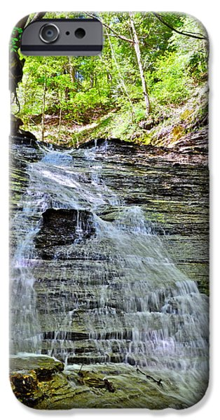 Overhang iPhone Cases - Butternut Falls iPhone Case by Frozen in Time Fine Art Photography