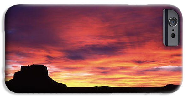 Chaco iPhone Cases - Buttes At Sunset, Chaco Culture iPhone Case by Panoramic Images