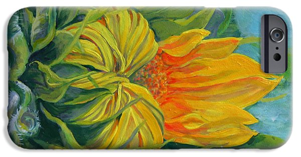 Buttonwood Farm iPhone Cases - Buttonwood Sunflower iPhone Case by Amy White