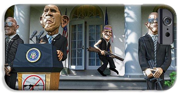 Joe Biden iPhone Cases - Buy a Shotgun iPhone Case by Justin Armstrong