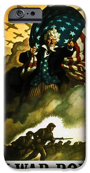 Uncle Sam iPhone Cases - Buy War Bonds iPhone Case by Robert Geary