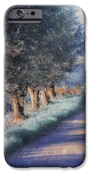Rural iPhone Cases - By Road of Your Dream. Monet Style iPhone Case by Jenny Rainbow