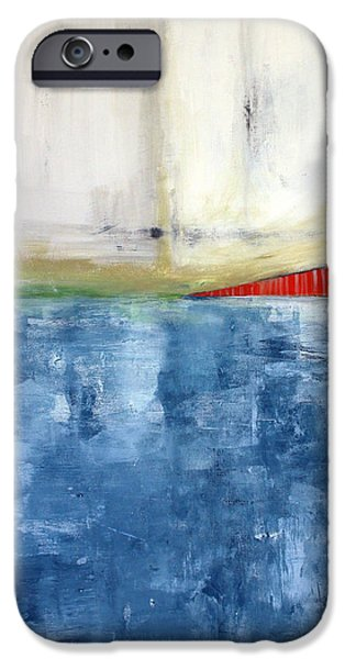Urban Art iPhone Cases - By The Bay- Abstract Art iPhone Case by Linda Woods