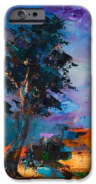 Pine Paintings iPhone Cases - By the Canyon iPhone Case by Elise Palmigiani