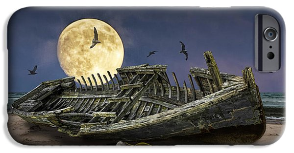 Moonscape iPhone Cases - By the Light of the Moon iPhone Case by Randall Nyhof