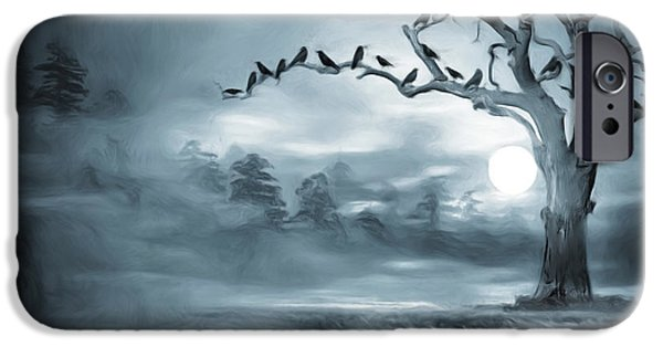 Mysteries iPhone Cases - By the Moonlight iPhone Case by Lourry Legarde