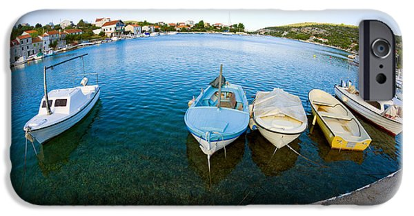 Port Town iPhone Cases - By the Pier iPhone Case by Alexey Stiop