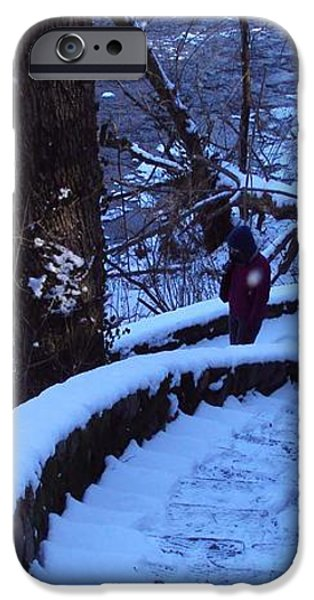 By The River iPhone Case by Cynthia Harvey