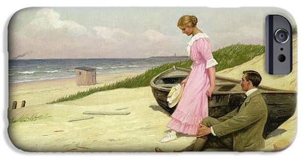 Women Together iPhone Cases - By The Sea iPhone Case by Povl Steffensen