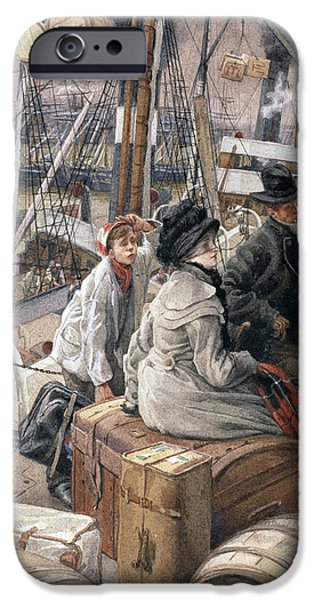 Kathleen iPhone Cases - By Water, C.1881-2 Wc iPhone Case by James Jacques Joseph Tissot
