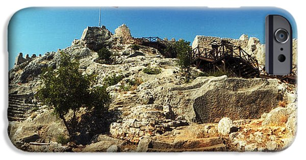 Patriotism iPhone Cases - Byzantine Castle Of Kalekoy iPhone Case by Panoramic Images