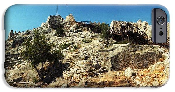 Byzantine iPhone Cases - Byzantine Castle Of Kalekoy iPhone Case by Panoramic Images