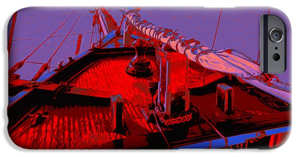 Tall Ship Digital Art iPhone Cases - C. A. Thayer iPhone Case by Jack Zulli