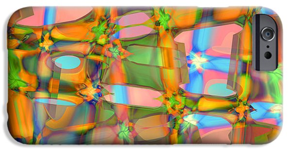 Abstract Digital Paintings iPhone Cases - C and C iPhone Case by Anthony Caruso