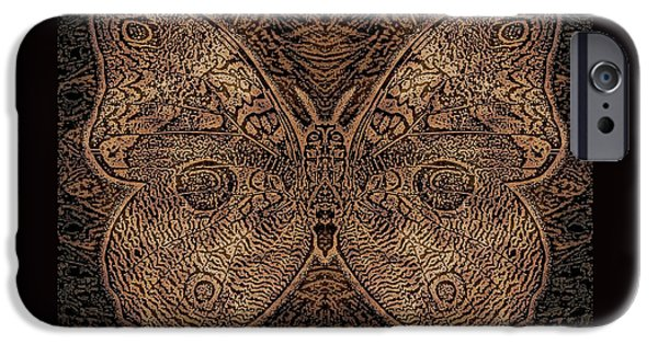 Earth Tones Drawings iPhone Cases - C Moth L3 Wd iPhone Case by Dale Crum