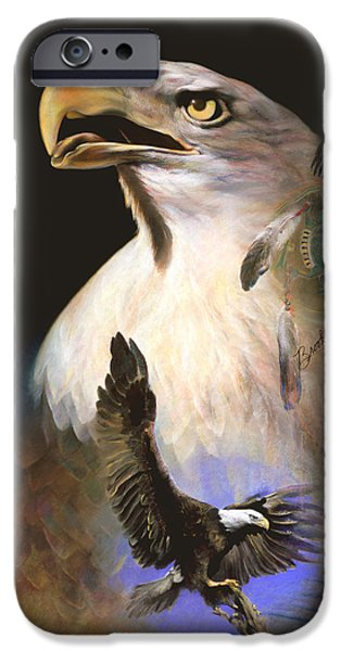 American Eagle Pastels iPhone Cases - Contact 2  iPhone Case by Brooks Garten Hauschild