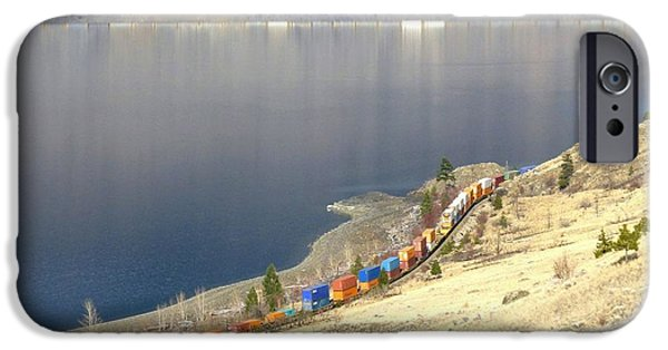 Beautiful Vistas iPhone Cases - C P R And C N R Freight Trains iPhone Case by Will Borden